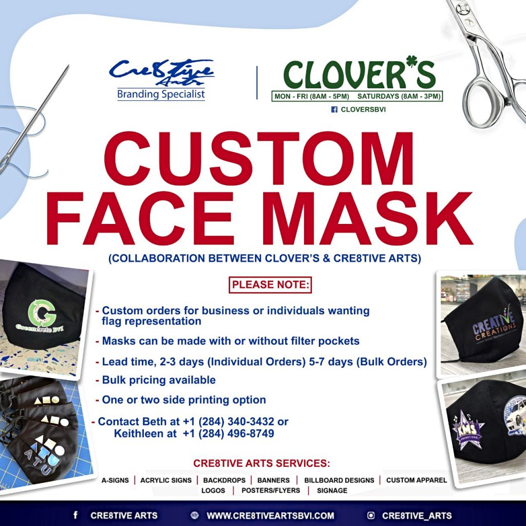 Cre8tive Arts and Clover's Customized Mask Project